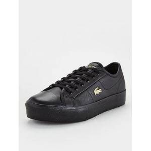 Lacoste Lacoste Ziane Plus Grand 01201cfa Plimsoll, Black/Gold, Size 4, Women