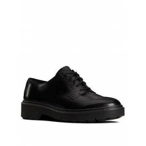 Clarks Witcombe Lace-up Leather Brogue - Black, Black Leather, Size 7, Women