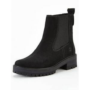 Timberland Courmayeur Valley Chunky Chelsea Ankle Boot - Black, Black Nubuck, Size 4, Women