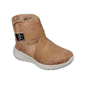 Skechers Girls Go Walk Joy Ankle Boot - Chestnut, Chestnut, Size 2 Older