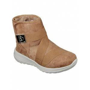 Skechers Girls Go Walk Joy Ankle Boot - Chestnut, Chestnut, Size 12 Younger