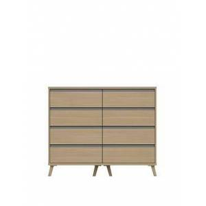 Very Miller Ready Assembled 4 + 4 Drawer Chest