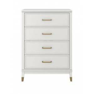 Cosmoliving By Cosmopolitan Westerleigh 4 Drawer Chest - White