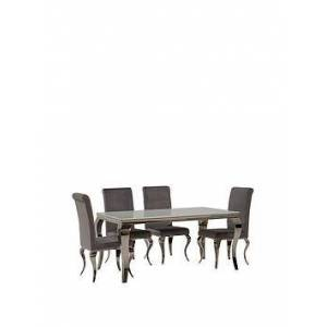 Vida Living Vida Living Ohio 200 Cm Dining Table Plus 6 Chairs - White/Silver