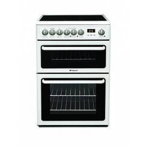 Hotpoint Newstyle Hae60Ps 60Cm Double Oven Electric Cooker With Ceramic Hob - White