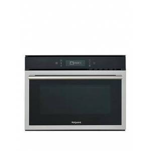 Hotpoint Class 6 Mp676Ixh 60Cm Built-In Combi Microwave Oven With Grill - Black/Stainless Steel - Microwave Only