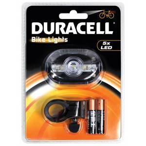 Duracell 5 LED Front Bicycle Light - BIK-F03WDU