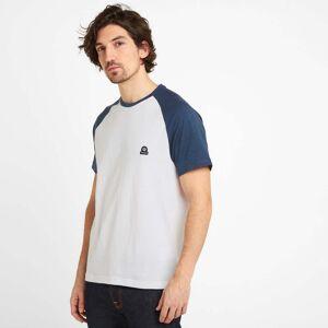 TOG24 Hustwick Mens Raglan T-Shirt - Denim/Optic White - S