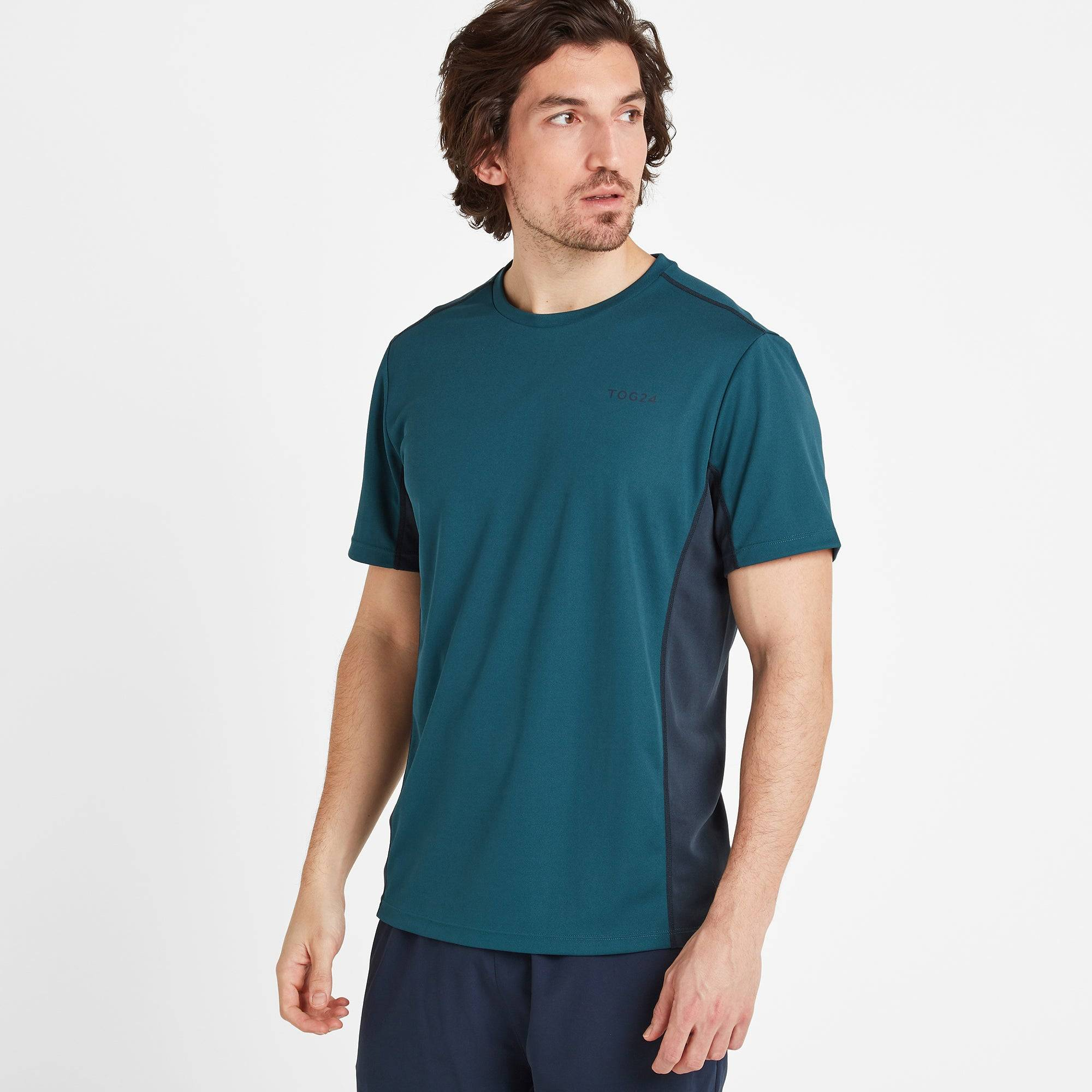 TOG24 Blackwell Mens Tech T-Shirt - Lagoon Blue - L