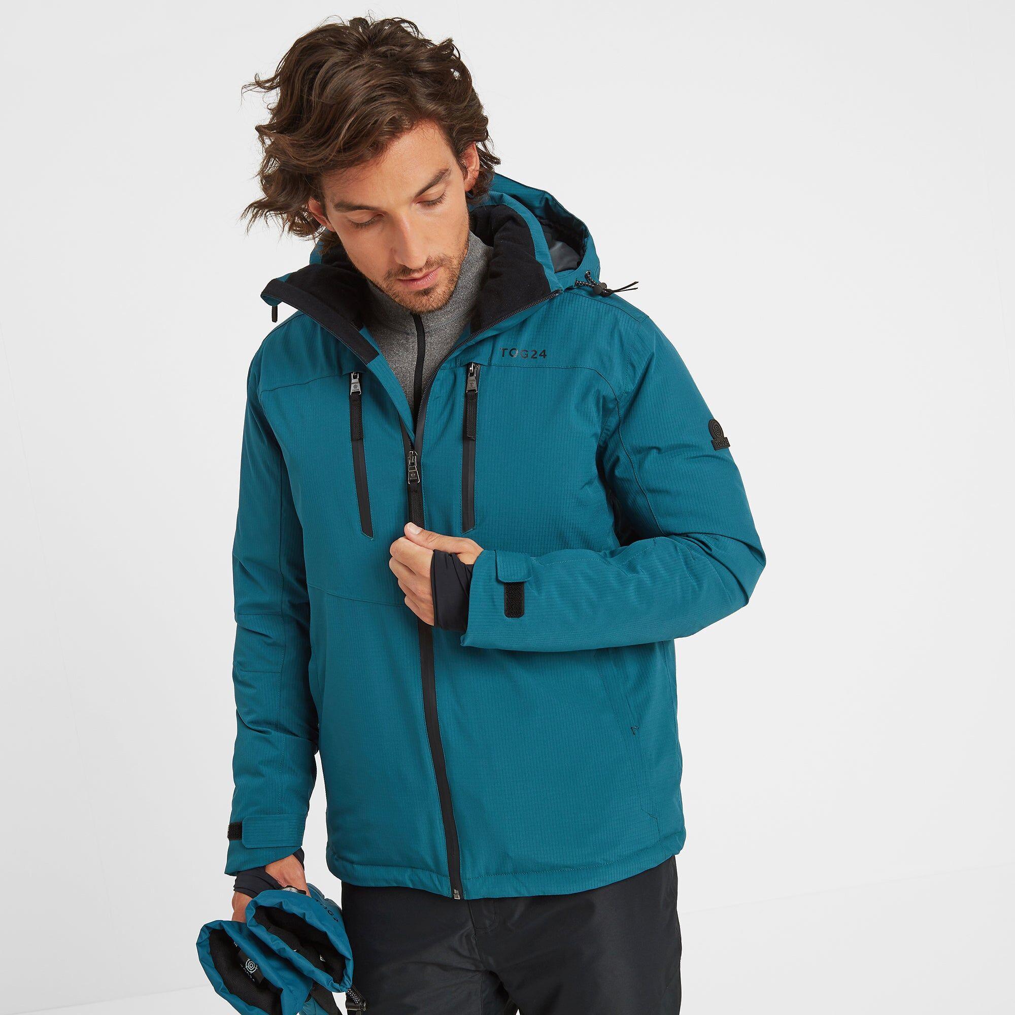 TOG24 Hawes Mens Waterproof Down Filled Ski Jacket - Lagoon - XL