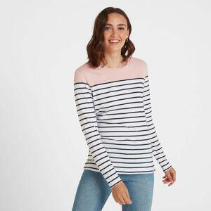 TOG24 Betsy Womens Long Sleeve Stripe T-Shirt - Rose/White/Indigo - 20