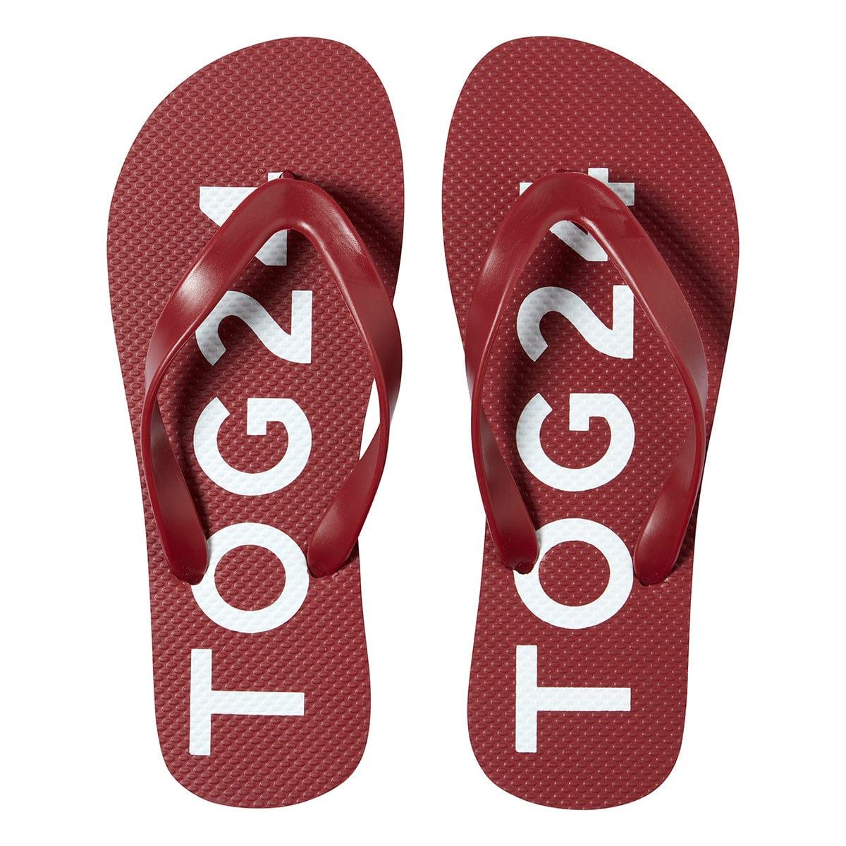 TOG24 Freddie Unisex Flip Flops - Chilli - 6 UK Shoe