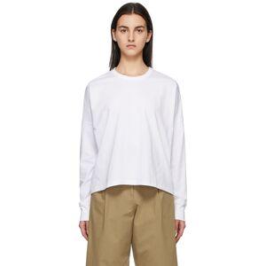 Studio Nicholson White Loop Long Sleeve T-Shirt  - White - Size: Extra Small