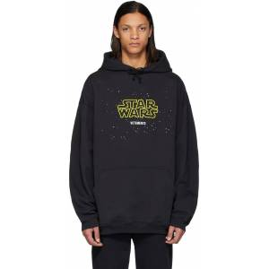 VETEMENTS Black STAR WARS Edition Episodes Hoodie  - BLACK - Size: Small