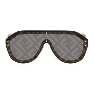 Fendi Black Forever Fendi Shield Sunglasses  - 02M2 BLKGOL - Size: UNI
