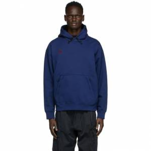 Nike Navy ACG NRG Pullover Hoodie  - 492 BLUE VO - Size: Extra Small