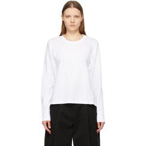Studio Nicholson White Loop Long Sleeve T-Shirt  - Optic White - Size: Medium