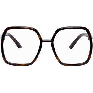 Gucci Tortoiseshell Square Horsebit Glasses  - 002 Havana - Size: UNI