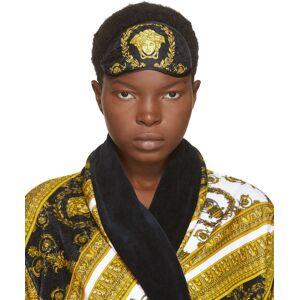 Versace Black Silk Medusa Eye Mask  - Z7011 - Size: UNI