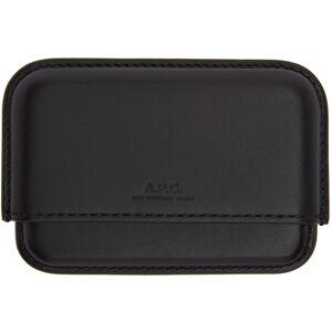 A.P.C. Black Magna Carta Card Holder  - LZZ BLACK - Size: UNI