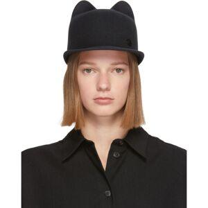 Maison Michel Grey Jamie Felt Cap  - Grey - Size: 57