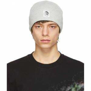 Diesel Grey K-Coder-F Beanie  - 912 HEATHER - Size: 56