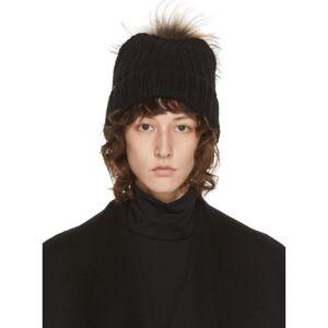 Mackage Black and Beige Doris Knit Beanie  - Black/Natur - Size: 54