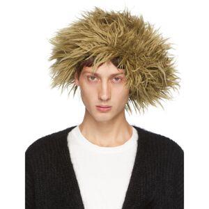 Doublet Beige Mohair Wig Beanie  - BRONZE - Size: 56