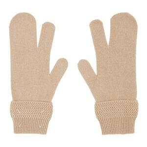 Maison Margiela Beige Tabi Gloves  - 113 Camel - Size: 7