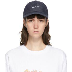 A.P.C. Indigo Charlie Cap  - IAI Indigo - Size: 60
