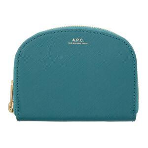 A.P.C. Blue Demi-Lune Coin Wallet  - IAE BluDuck - Size: UNI