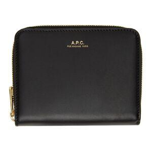 A.P.C. Black Emmanuelle Compact Wallet  - LZZ Black - Size: UNI
