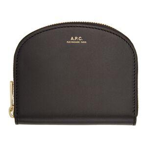 A.P.C. Black Demi-Lune Compact Wallet  - LZZ Black - Size: UNI