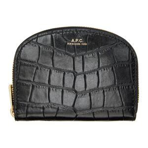 A.P.C. Black Croc Demi-Lune Coin Wallet  - LZZ Noir - Size: UNI