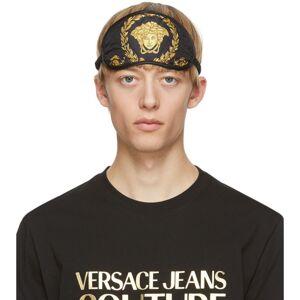 Versace Black and Gold Barocco Eye Mask  - Z7011 BLACK - Size: UNI