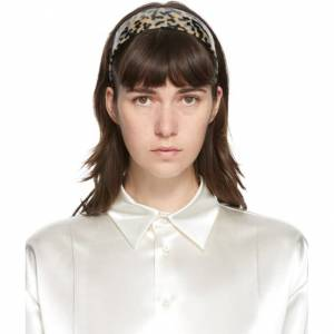 Sophie Buhai Beige and Black Bessette Headband  - Beige - Size: 54