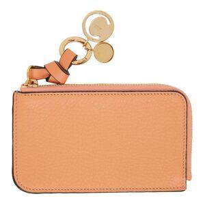 Chloe Pink Alphabet Zip Around Card Holder  - 6I1 PeachBl - Size: UNI