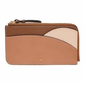 Chloe Brown and Pink Walden Zip-Around Card Holder  - 26B MutedBr - Size: UNI