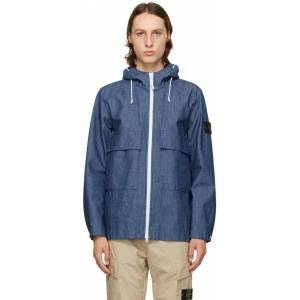 Stone Island Blue Denim Mac Chambray 3L Jacket  - WASH - Size: Extra Large