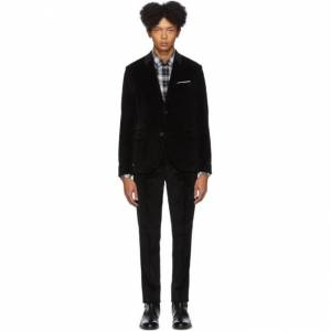 Neil Barrett Black Corduroy Suit  - 01 BLACK - Size: Medium