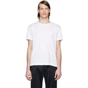 Dolce & Gabbana White Essential Logo Patch T-Shirt  - W0800 BIANC - Size: Medium