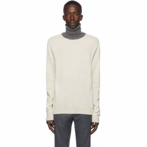 Maison Margiela Off-White Colorblock Turtleneck Sweater  - 001F WHBLGR - Size: Medium