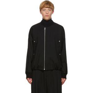 Jil Sander Black Wool Bomber  - 001 BLACK - Size: Extra Large