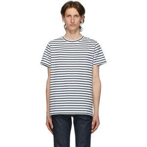 A.P.C. White Striped Michael T-Shirt  - AAD ECRU - Size: Medium