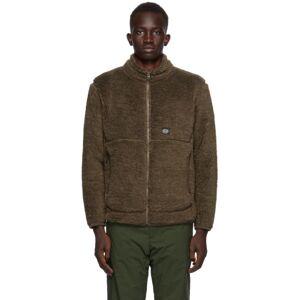 Snow Peak Brown Wool Fleece Jacket  - OLIVE - Size: Medium