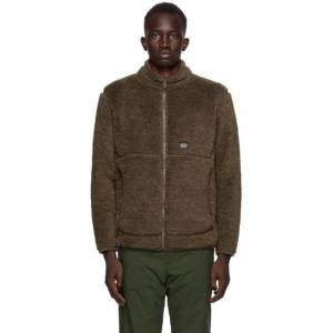 Snow Peak Brown Wool Fleece Jacket  - OLIVE - Size: Medium