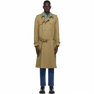 Gucci Tan Wool Trench Coat  - 2025 CAMEL - Size: Medium