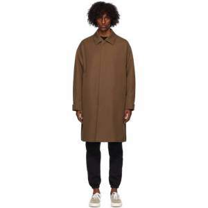 Fear of God Ermenegildo Zegna Brown Wool Trench Coat  - LGHBRW LIGH - Size: Large