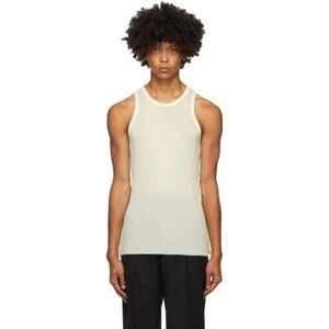 Haider Ackermann Off-White Cotton Cashmere Tank Top  - IVORY - Size: Medium