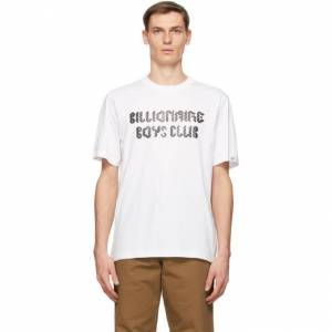 Billionaire Boys Club White Magnetic Logo T-Shirt  - WHITE - Size: Medium